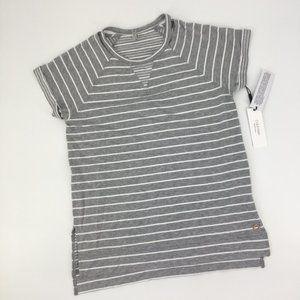 Calvin Klein Performance Gray White Stripe T-Shirt